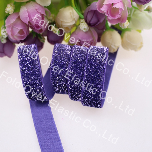 free shipping 5 8 16mm glitter elastic velvet B 16P super quality frosted glitter elastic for
