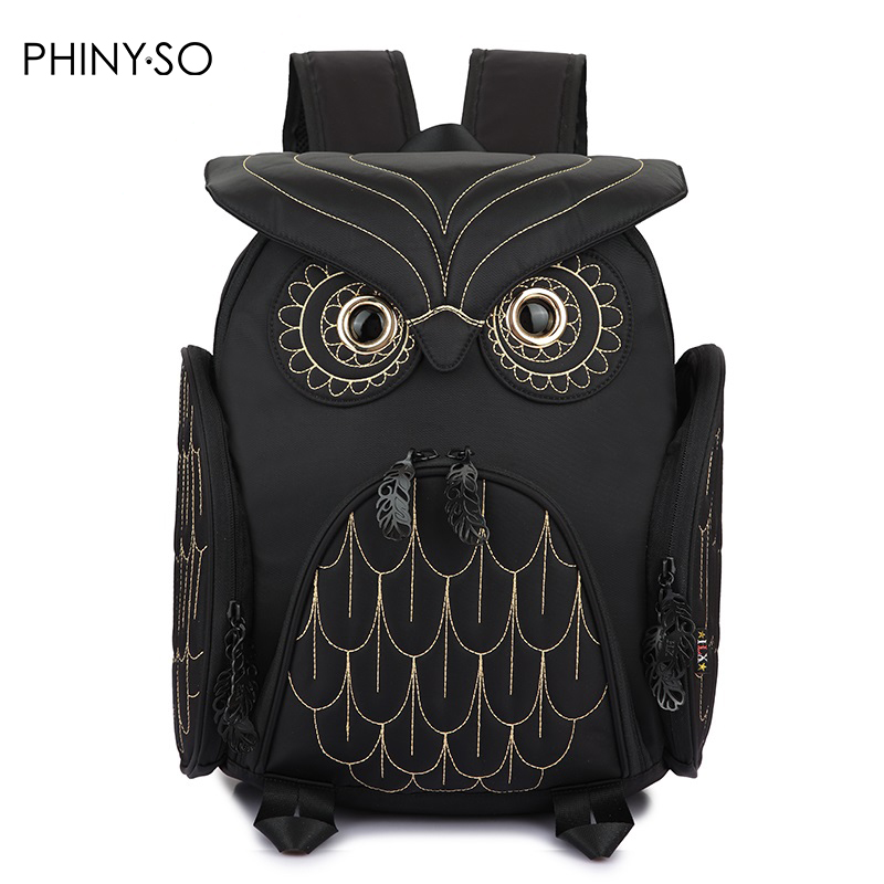 New Hot Fashion 3D Owl Pattern Bag Men/'s Bag Leisure Bag Backpack Travelling Bag