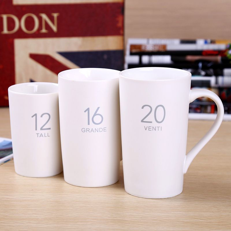 New Ceramic Mugs White Handgrip Cups Solid Color Coffee Brand 350ml Drinkware And Size Free Shipping 30019 3 In From Home Garden