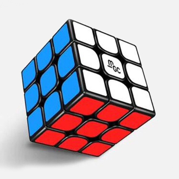 MGC 3x3x3 Magnetic Cube Black Magic Cube Puzzle For Beginner Professional Magic Cube Toys For Children Kids 1