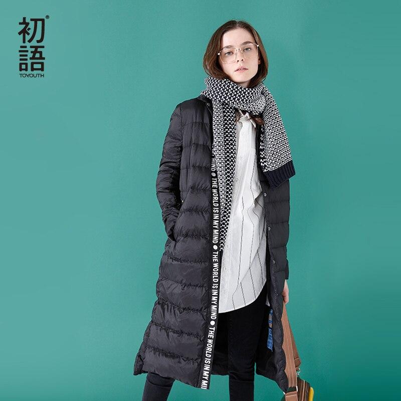 Brand High Quality 2018 Spring Winter Down Jackets Women Medium Long Loose Duck Down Coats Female
