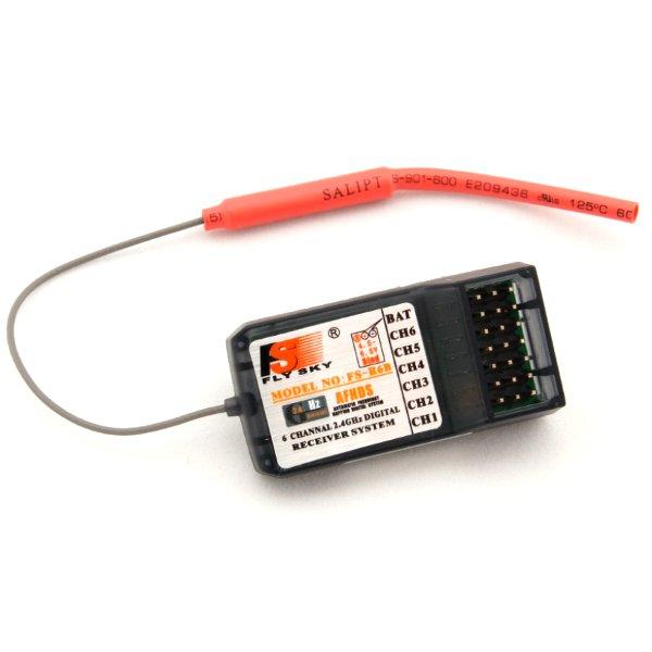 FlySky FS-R6B 2.4 Ghz AFHDS FS R6B 6CH RC Receptor para i6 i10 T6 FlySky CT6B TH9x Transmissor de Controle Remoto partes