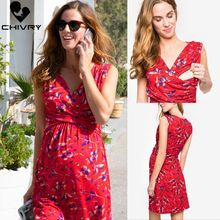 2019 More Function Maternity Dresses Pregnancy Pregnant Nursing Breastfeeding Print Beach Dress Lactation Clothes Dress Vestidos цены