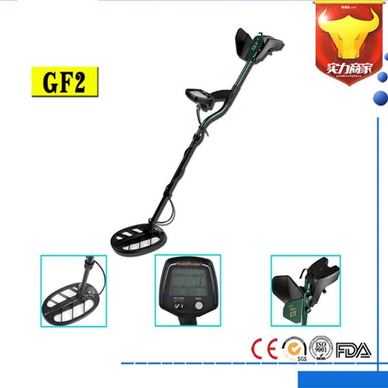 Professional Metal Detector Underground GF2 Treasure Hunter Gold Digger LCD Display Headphone Ultra Sensitivity Detector Wiring