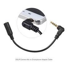 Andoer EY-S04 3.5mm 3 pólo trs direita microfone adaptador cabo conversor de áudio estéreo microfone para ipad iphone samsung huawei telefone