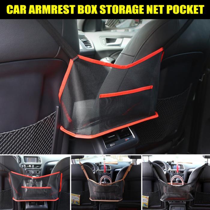 Barrier of Backseat Pet Kids,Cargo Tissue Holder Black Car Mesh Organizer,Large Capacity Bag for Purse Storage Phone Documents Pocket Natsuki Handbag Holder