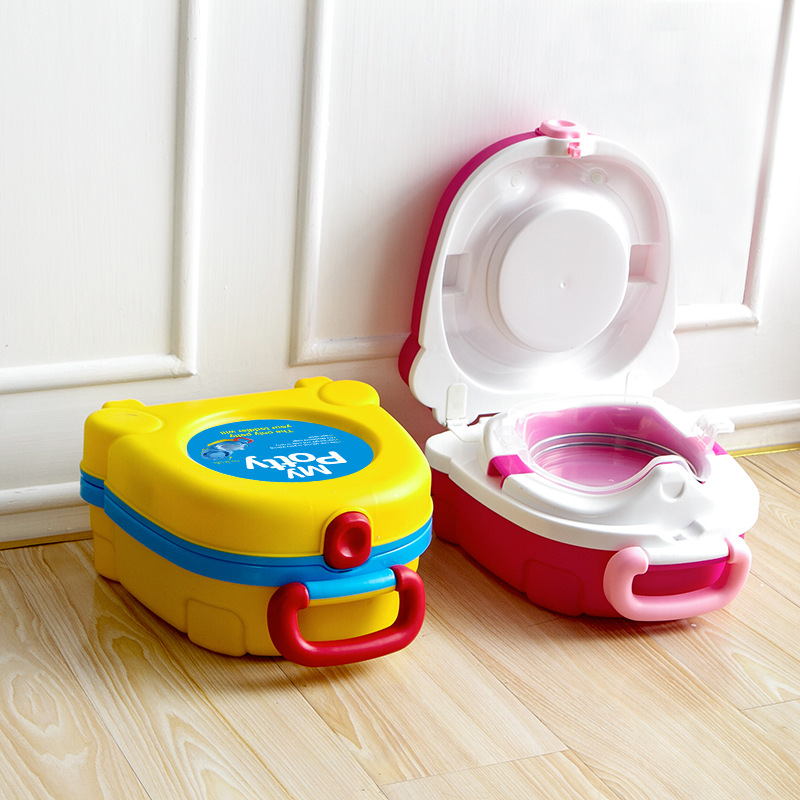 Cute Portable Travel Baby Toilet Training Potty Car Squatty Potty Child Pot Girls Boy Kids Camping Toilet Seat Children's Pot