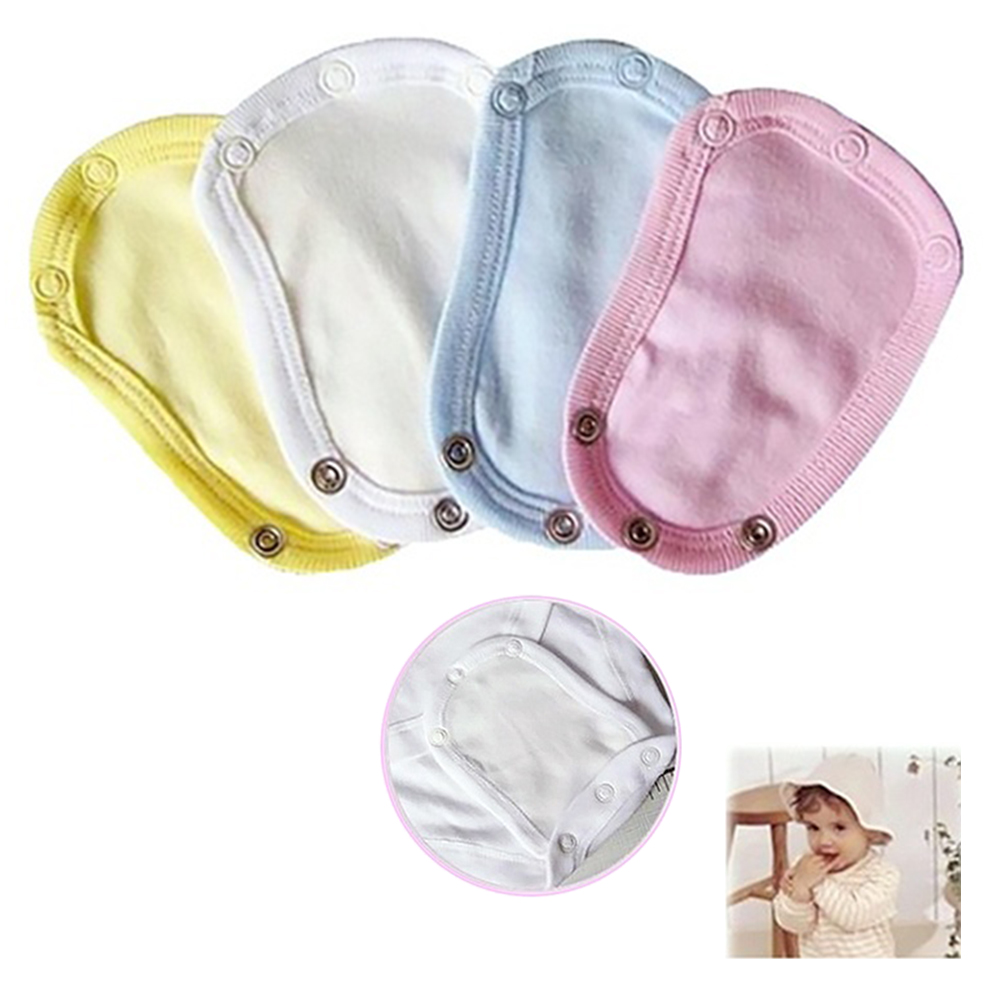 4PC  Boys Girls Kids Romper Partner Super Utility Bodysuit Jumpsuit Diaper Romper Lengthen Extend Film 4 Colors