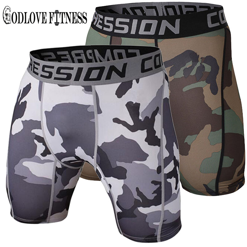 New 2019 Mens Tight Elastic Compression Shorts Fitness Brand Clothing Wicking Bermuda Short Pants Homme Men Bodybuilding Shorts