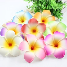 10Pcs 9cm Plumeria Hawaiian Foam Frangipani Artificial Flower For Wedding Party Decoration