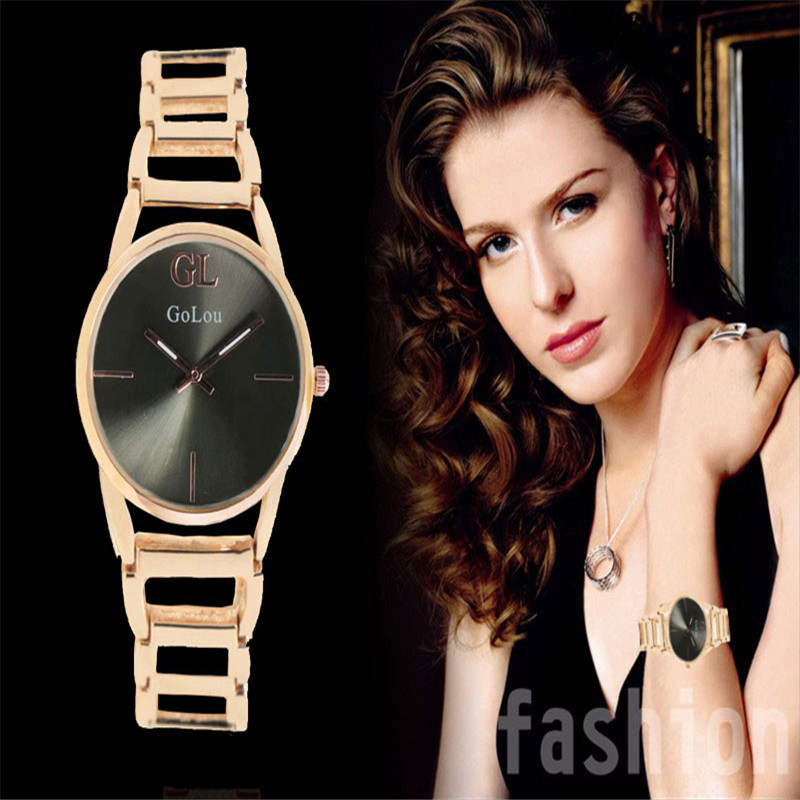 High Quality Charming rose gold bracelet watch Women Ladies dress Quartz Wrist watches Relogio Feminino Waterproof 8069 2016 women diamond watches steel band vintage bracelet watch high quality ladies quartz watch