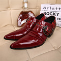 Red Men's Brand Designer Wedding Shoes Sapatos Zapatos Mujer Genuine Leather Business Shoes Night Clubwear for Men Plus Size 46