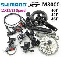 SHIMANO DEORE XT M8000 список групп 165/170/175 мм Crankset горный велосипед grupo 11/22/33 Скорость переключатель 40 т 42 т 46 т