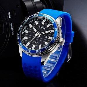 Image 2 - SINOBI 316 Stainless Steel Mens Sports Watches Luxury Brand Silicone Waterproof Men Military Watch Quartz Relogio Masculino