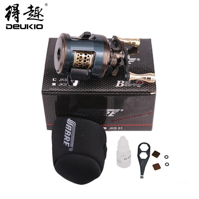 Moulinet de pêche DEUKIO JKS appât moulage 12BB 6.2: 1 rapport de vitesse leurre moulinets Baitcast roues à tambour accessoires de pêche Pesca