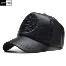 NORTHWOOD  alta calidad Pu cuero de gorra de béisbol hombres invierno  Snapback sombrero Gorras fa2834799fd