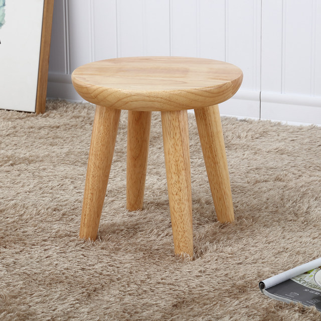 Staygold Chairs Solid Wood Stool Oak Creative Garden Stool Fashion  Household Small Bench Free Assembly Easy To Carry