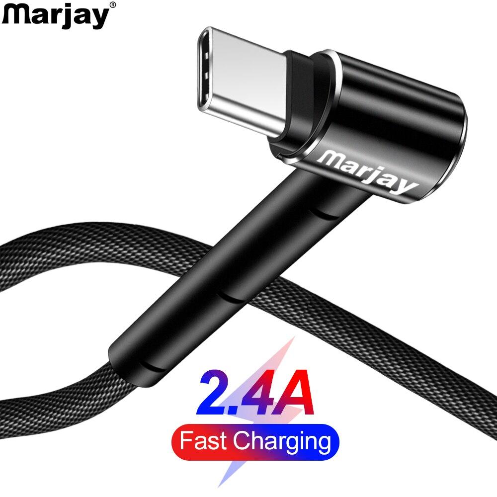 Cable USB tipo C Marjay, Cable de carga rápida de 90 grados tipo C para Samsung S9 S10 Xiaomi mi9 Huawei P30 Pro, Cable USB C para teléfono móvil Lector de tarjetas SD USB 3,0 adaptador USB tipo C Micro TF/SD lector de tarjetas de memoria adaptador USB lector de tarjetas 3 en 1 OTG