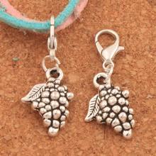 Grape Fruit Lobster Claw Clasp Charm Beads 32.2x12.8mm 100PCS Tibetan silver Jewelry DIY C363 triangular arrow lobster claw clasp charm beads 24 4x4 6mm 200pcs tibetan silver jewelry diy c462