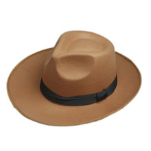 Модная Мужская Классическая Кепка с широкими полями, Кепка от солнца, шляпы Панамы Feodora, кепка Toca SombrWith Black Ribbon Band 7
