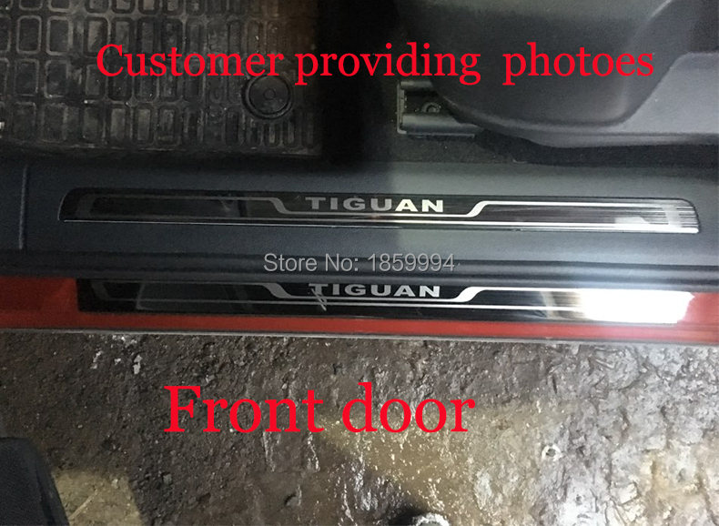 for 2016 2017 2018 VW Tiguan mk2 Europe version car scuff plate door sill trim welcome pedal стоимость