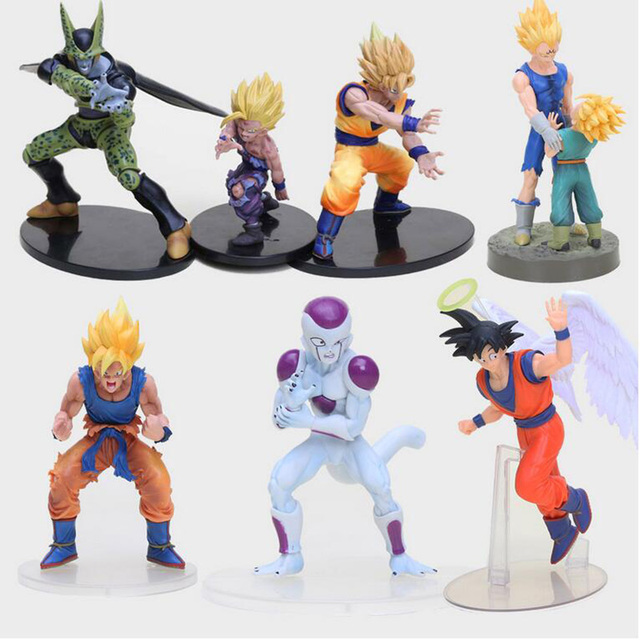 Anime Dragon Ball Z Figura Super Saiyan Celular Infância Son Gohan PVC Action Figure Collectible Modelo Toy
