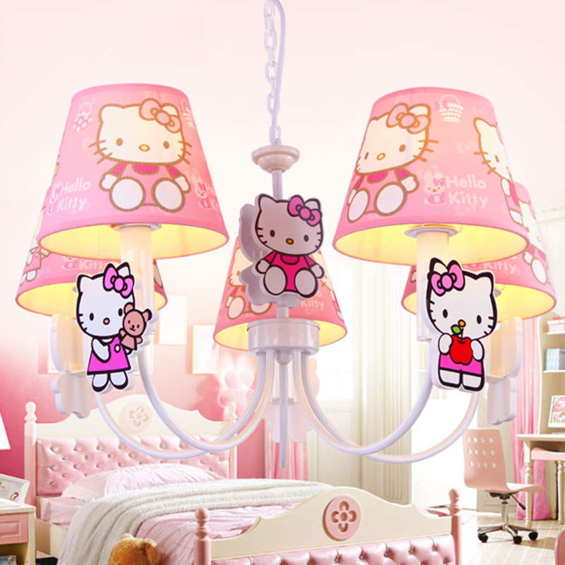 pink bedroom lamps new children bedroom princess hellokitty pendant lamp 12843