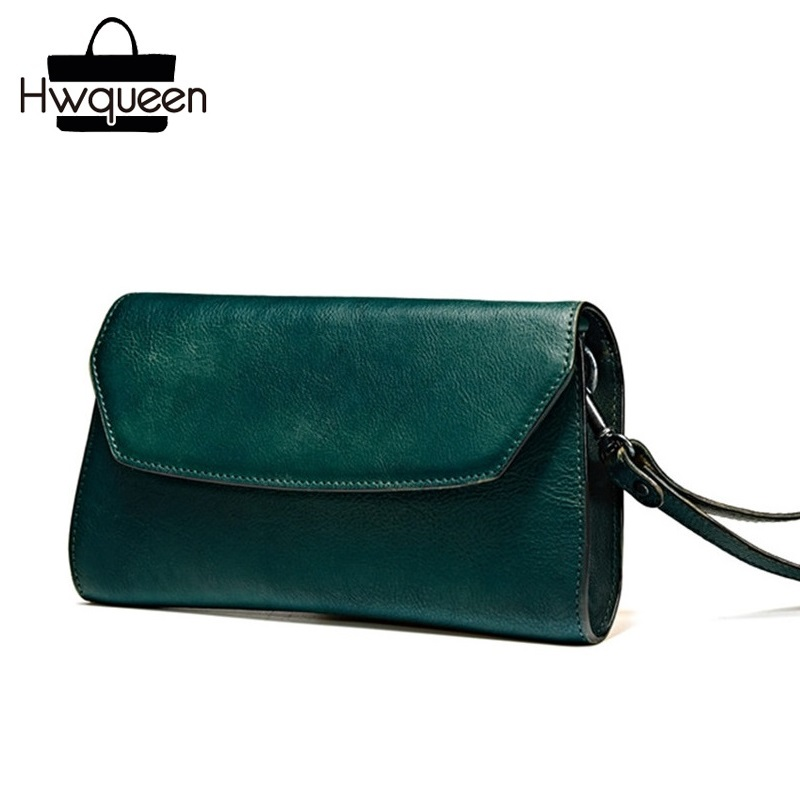 Vintage Designer Genuine Tanned Leather Blackish Green Women Wristlets Bag Cowskin Female Clutch Purse Lady Small Messenger Bag шапка lakmiss шапка