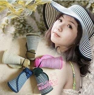 Summer big along the cap strawhat sunbonnet sun visor hat female beach cap parent-child cap