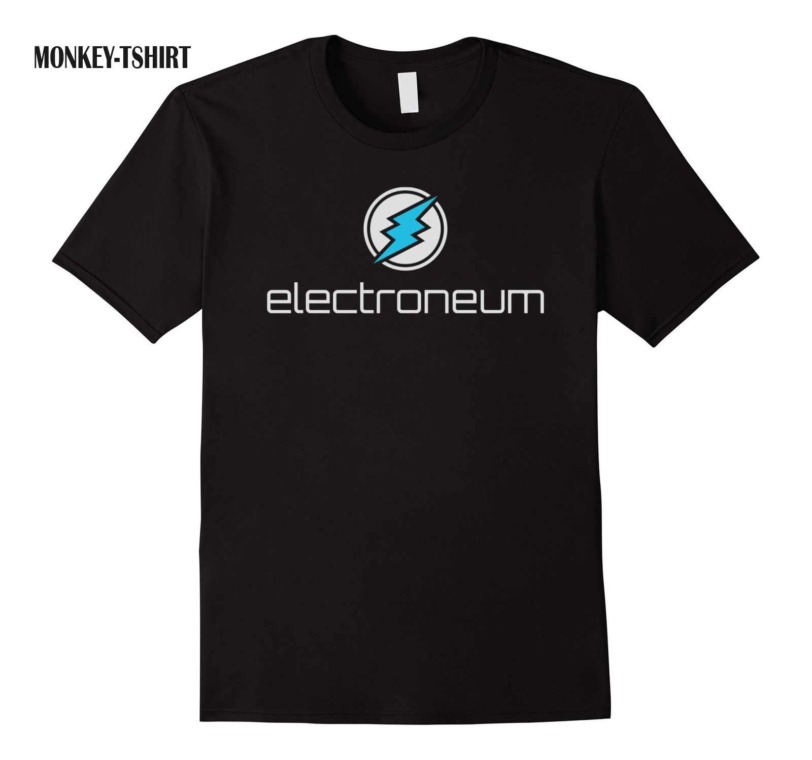 Electroneum Etn Cryptocurrency Blockchain T-Shirt Summer Short Sleeves Fashion T Shirt Free Shipping