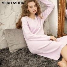 Vero Moda yeni kadın v yaka eğlence ev tekstili örme elbise