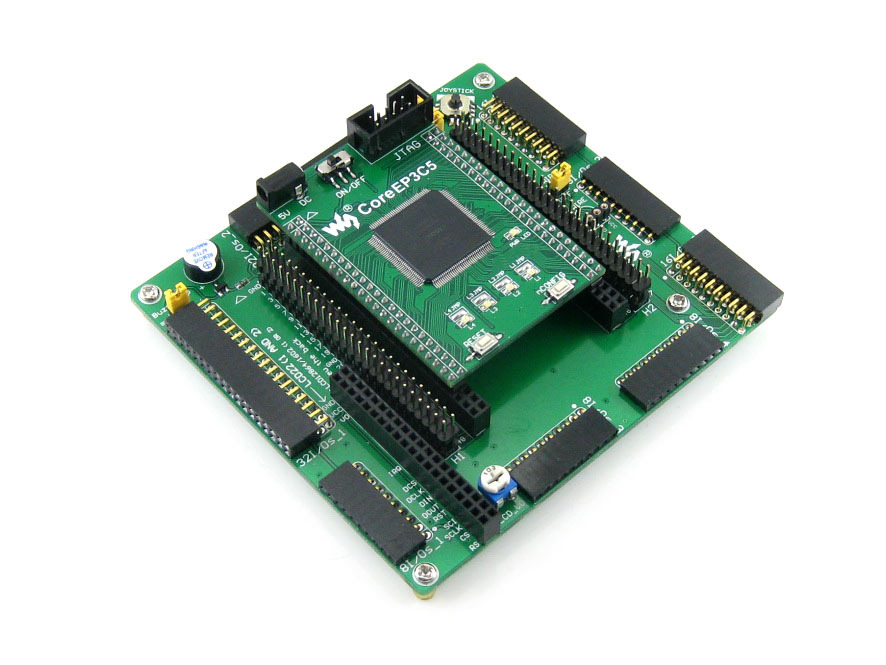 Waveshare EP3C5 EP3C5E144C8N ALTERA Cyclone III FPGA Development Board Easy For Peripheral Expansions = OpenEP3C5-C Standard altera cyclone board ep3c5 ep3c5e144c8n altera cyclone iii fpga development board 13accessory module ki t openep3c5 c package a