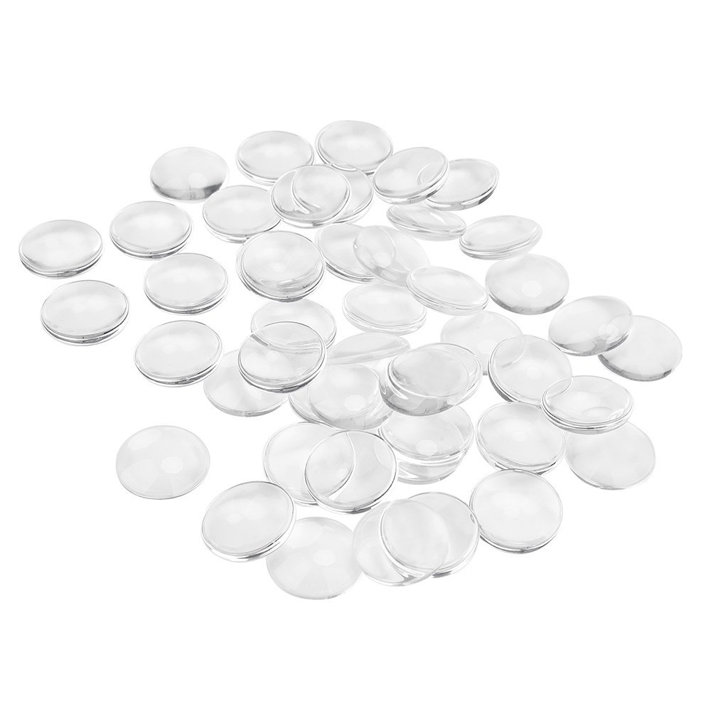 Round Cabochon Glass Dome Clear 25mm 1 Inch Non-calibrated For Photo Pendant Craft Jewelry Making,50 PCS