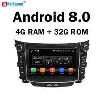 HaiSunny 4GB RAM Octa Core Android 8.0 Car DVD GPS Multimedia Player For Hyundai I30 2011 2012 2013 2014 Radio
