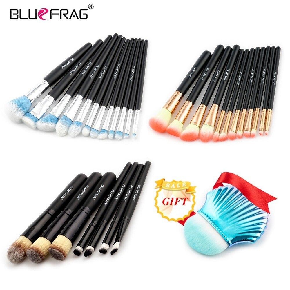 BLUEFRAG Acheter 3 obtenir 1 cadeau Maquillage pinceaux Fondation blush Liquide Kabuki Fard À Paupières Eyeliner Contour des Lèvres Tache Faire up brosse