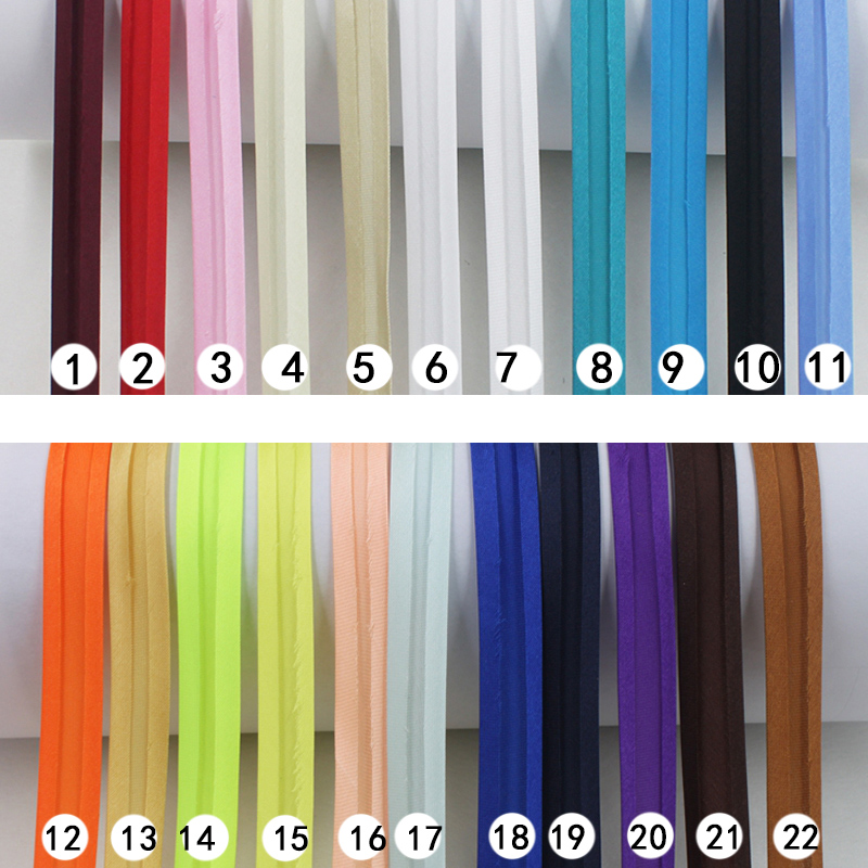 15mm Trimming Garment-Sewing Satin-Bias-Tape Bias-Binding DIY Polyester Solid-Color 25yard/Roll