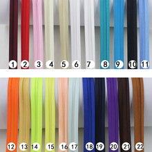 """Poliéster 5/8 """"(15mm) fita encaixe de cetim cor sólida, para costura diy vestuário e aparação de 25 quintal/rolo"""