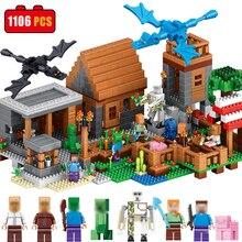 1106 unids Mi Mundo Compatible Legoed Minecrafted DIY Ilumine Ladrillos Bloque de Construcción de Mi Pueblo Brinquedos Juguetes para niños de Regalo