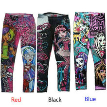 New Halloween Monster High Cartoon Printed Children Kids Girls Pants L