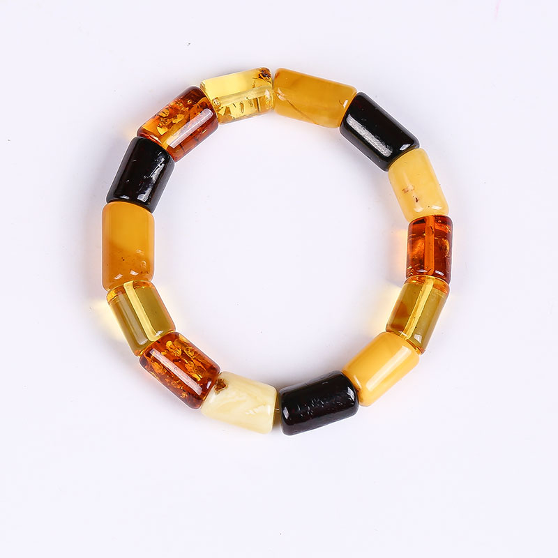 Fidelity natural amber Pure handmade leather cord Sterling silver DIY beeswax bracelet natural amber beeswax original stone genuin nice guy original pure natural amber beeswax diy hand string bracelet bead pendant original stone polished female custom