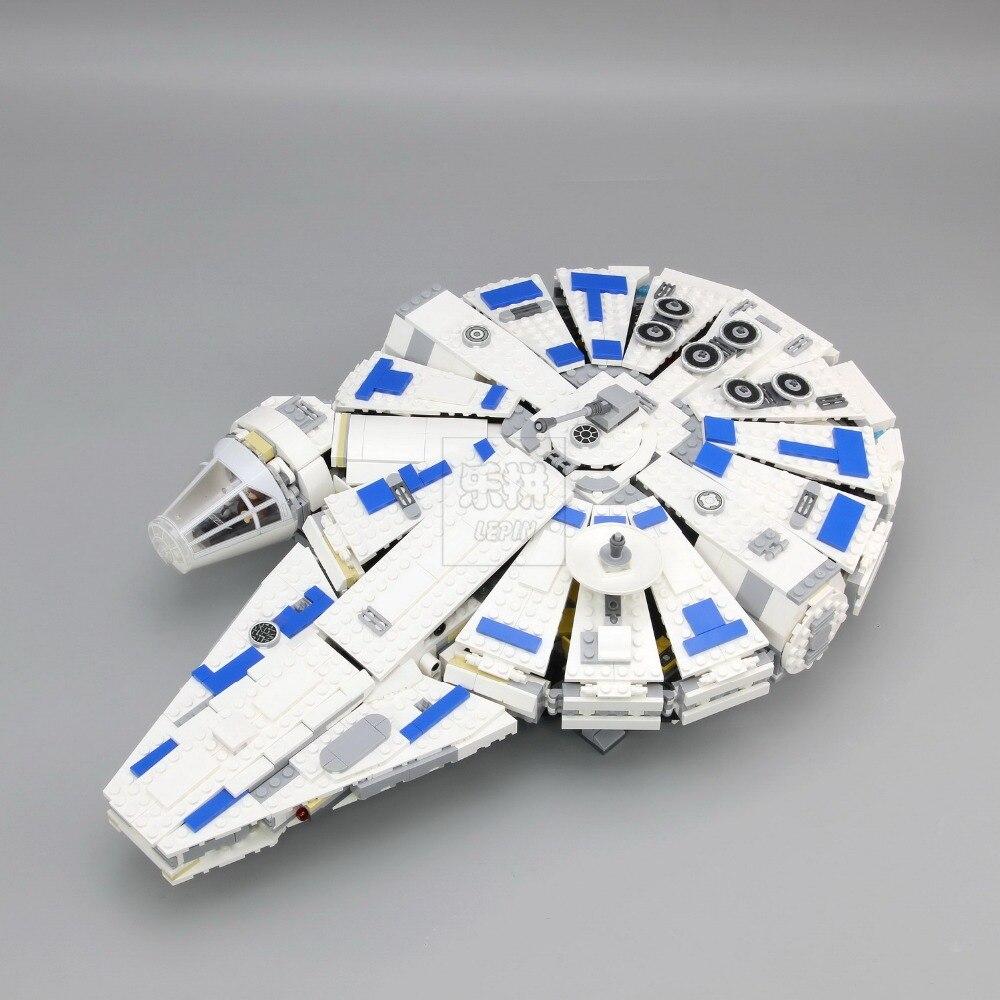 En stock LEPIN Star Series Guerre 05142 Blocs de Construction Force Éveille Du Millénaire Legoing 75212 Jouets Falcon Modèle Enfants Jouet 1584 pcs