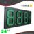24 ''8889/10 verde impermeável ao ar livre levou preço do gás da estação placa de sinalização Digital de 7 segmento levou placa de gasolina combustível