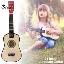 SLADE 23 дюймов Акустическая гитара из липы цвет дерева 6 струнный музыкальный инструмент с гитарной палкой и струной