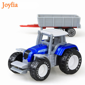 Image 2 - 4 Types Boys Farm Truck Toy Vehicles Engineering Truck Car Models Tractor Trailer Toys Model Car Toy Collectible Car For Kids#