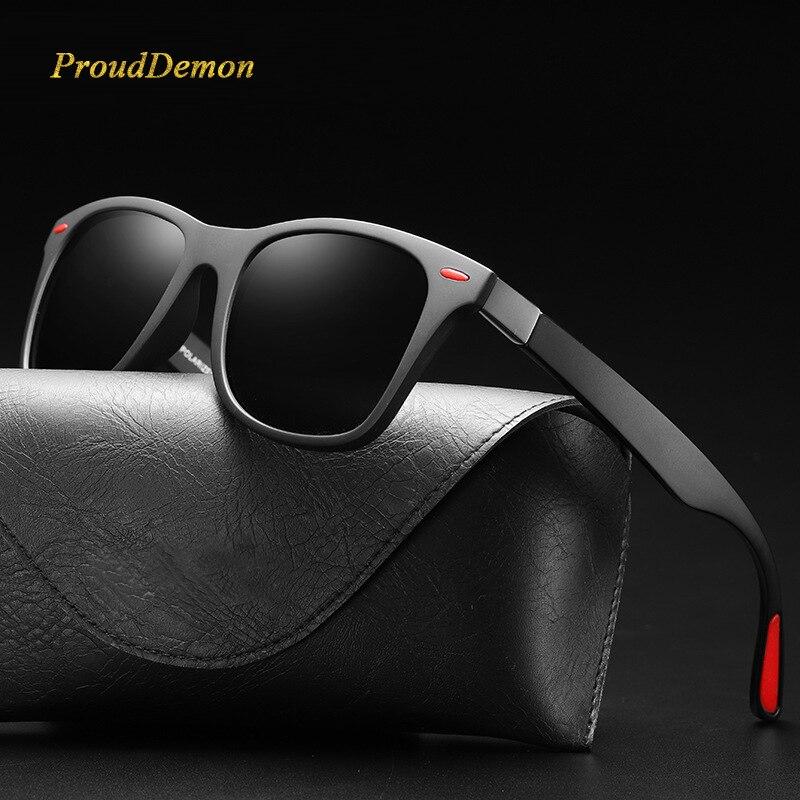 Prouddemon BRAND DESIGN Classic Polarized Sunglasses Men Women Driving Square Frame Sun Glasses Male Goggle UV400 Oculos De Sol in Women 39 s Sunglasses from Apparel Accessories