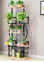 Balcony flower shelf floor standing green flower stand living room wrought iron fleshy flower rack shelf multi layer hanging fra