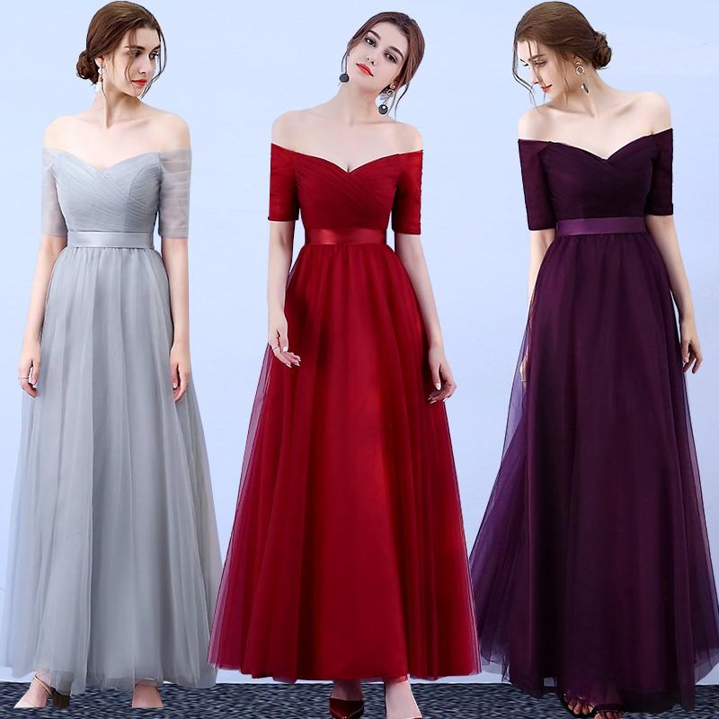 Long Dress For Wedding Party For Woman  Bridesmaid Dresses Elegant Vestido Da Dama De Honra