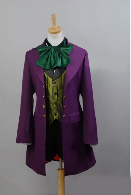 Anime Cosplay Costume Black Butler II Alois Trancy Cosplay Costume Men Women Purple Outfit Coat Jacket Halloween Costume