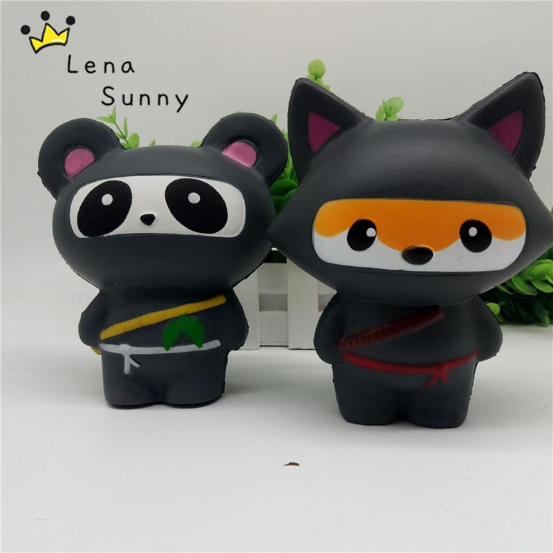 10PC Lot 14CM Kawaii Ninja Squishy Panda Bear Fox Bread Soft Slow Rising Toy Kid Naruto