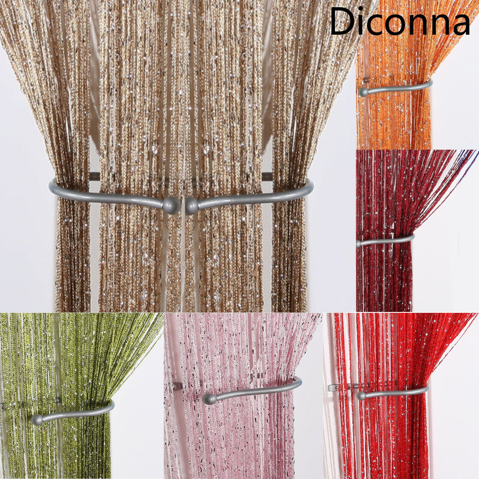 Tassel Beads Sparkle String Net Curtain Door Fly Screen Windows Door Divider Hot Sale Door Window Screens Home Textile